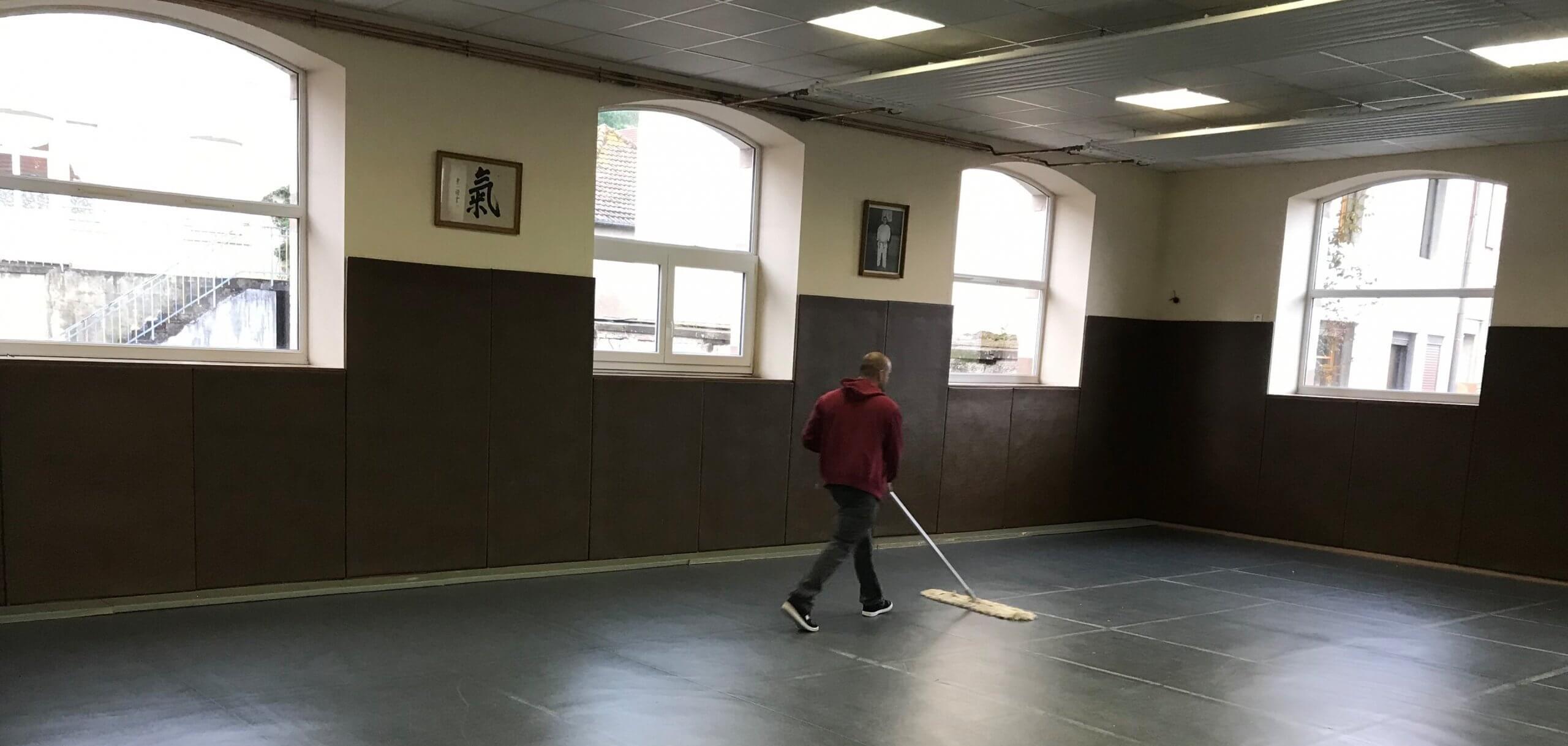 Grand nettoyage du tatami
